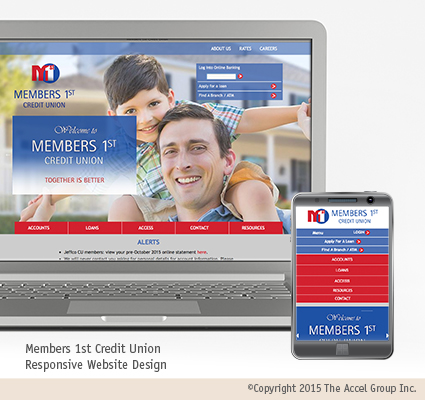 Members 1st Credit Union website