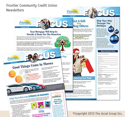 Frontier Community Credit Union newsletter
